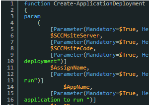Create an SCCM application deployment with powershell